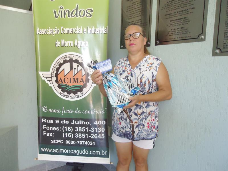 Empresa que doou: De Clau Buffet - Ganhadora: Ana Regina Miranda - Empresa onde comprou: Auto Escola Tiguéra