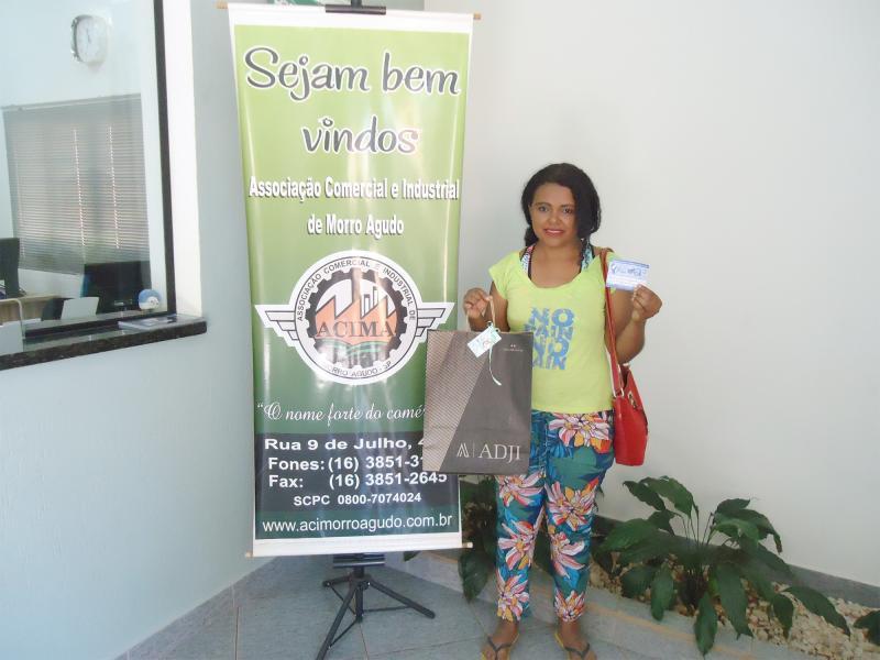 Empresa que doou: Marlene Chaim - Ganhadora: Marcia Alves Ferreira - Empresa onde comprou: Morro Agudo Realidade & Construção