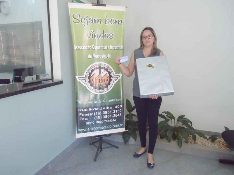 Empresa que doou: Agrisolo Peças Agrícolas - Ganhadora: Ana Paula Sabatino Campos - Empresa onde comprou: MS Modas