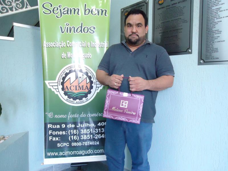 Empresa que doou: Maison Vanira - Ganhador: Wesley Jorge - Empresa onde comprou: Padaria do Beto
