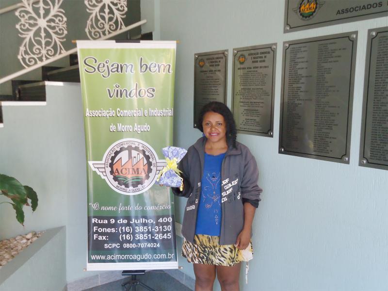 Empresa que doou: Speed Bike - Ganhadora: Márcia Alves Ferreira - Empresa onde comprou: Morro Agudo Realidade & Construção